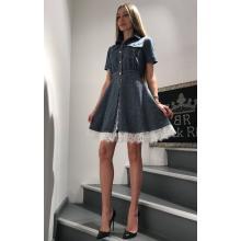 Платье джинсовое с кружевами
