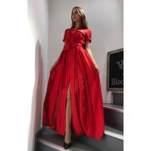 Платье длинное кружевное со вставками